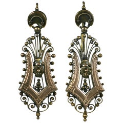 Victorian Filigree Harp Earrings