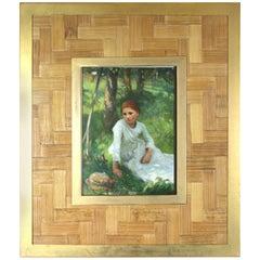 Bottega Veneta Woven Bamboo Picture Frame