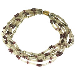 Archimede Seguso Multi Strand Necklace