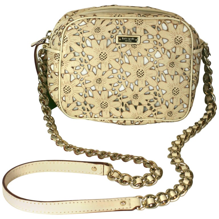 aa653be78c Kate Spade Laser Cut Floral Bag For Sale at 1stdibs