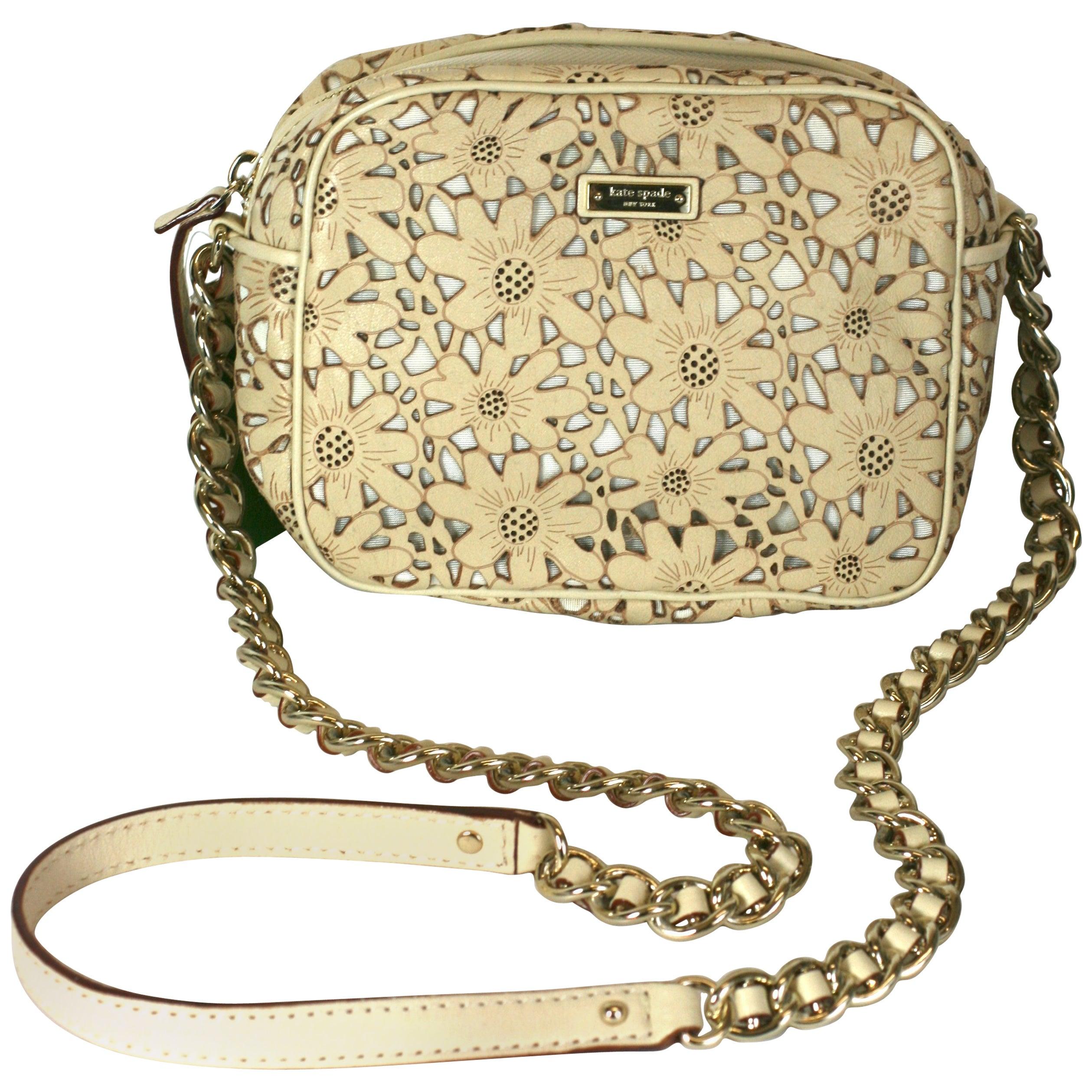 ab46523a5 Kate Spade Laser Cut Floral Bag For Sale at 1stdibs