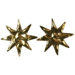 Yves Saint Laurent Starburst Earclips