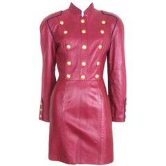 Michael Hoban North Beach Leather Military Dress