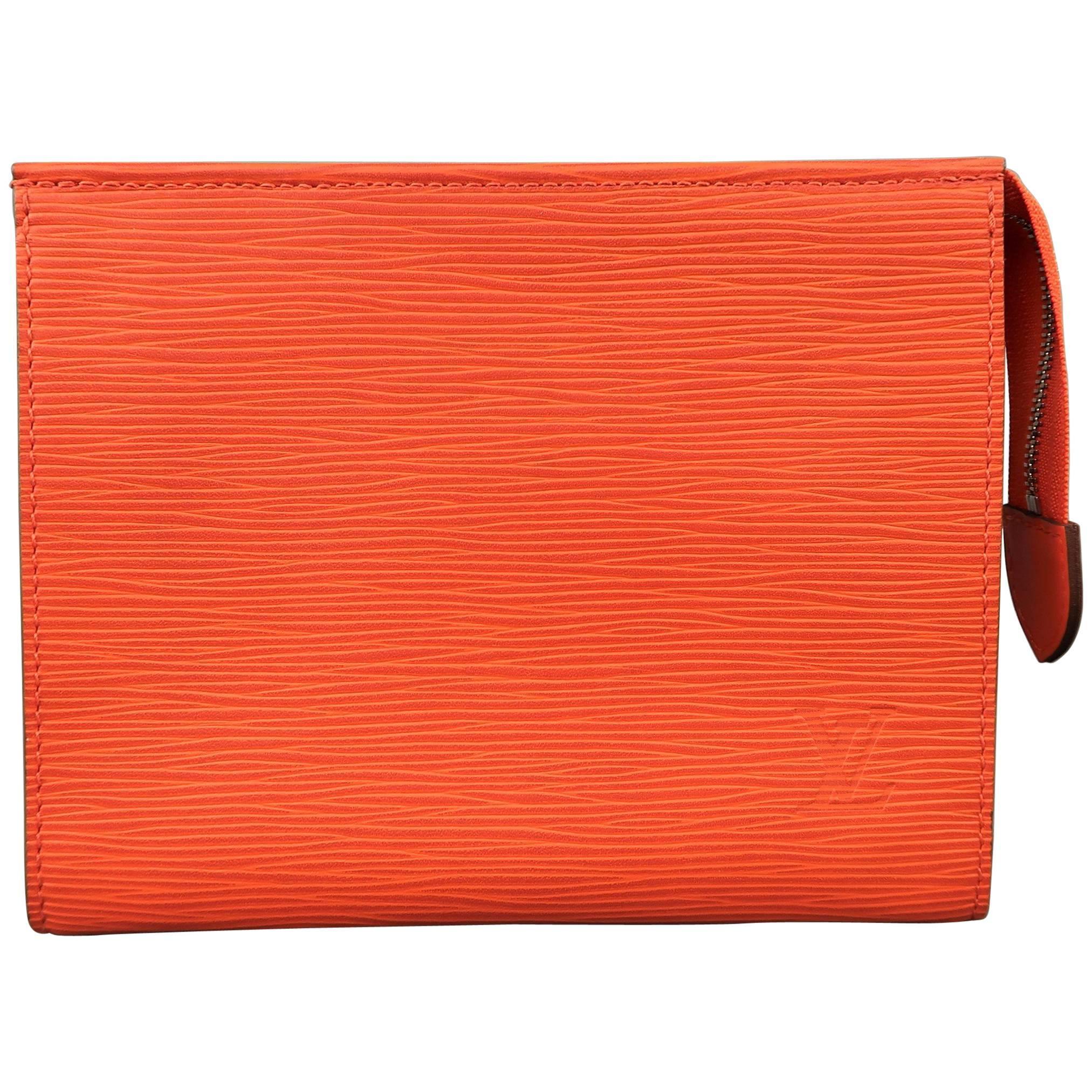 27e99a2e8b8e Louis vuitton bag orange epi leather poche toilette zip pouch bag for sale  jpg 768x768 Pouch