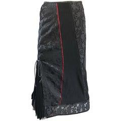 Rare Ritsuko Shirahama 1990s Black Lace Avant Garde Japanese Vintage 90s Skirt