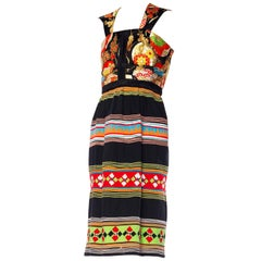 Seminole Indian and Japanese Obi Dress