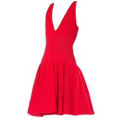 1990s Alaia Red Dress