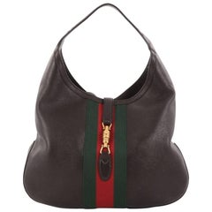 Gucci Web Jackie Soft Hobo Leather Large