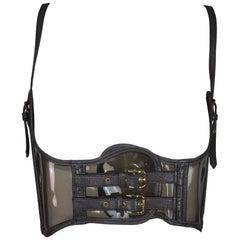 S/S 2007 Dolce & Gabbana Sheer PVC Corset Bustier Buckle Crop Top
