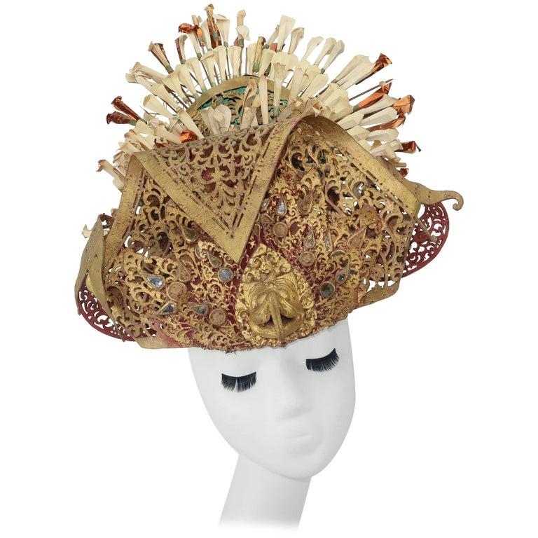 Ornate 1930's Balinese Headdress