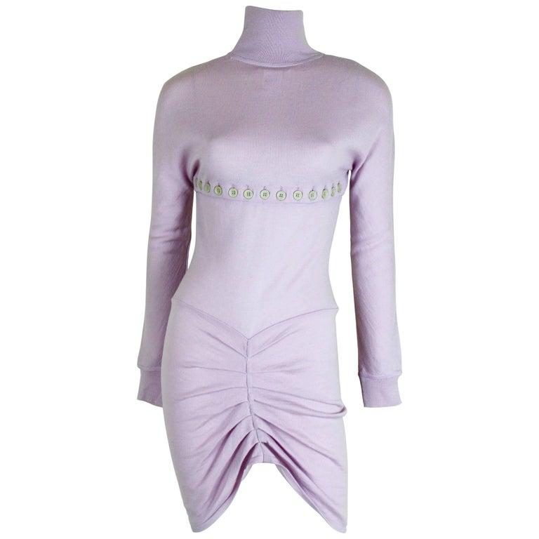 Alexander McQueen 1996 Collection Wool Knit Dress