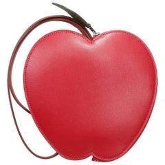 Hermès Tutti Frutti Large Limited Edition Red Apple Clutch