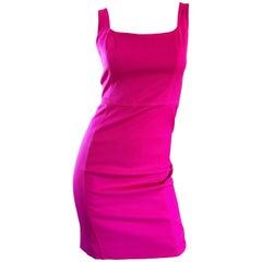 Giorgio Armani Collezioni Vintage Hot Pink Dress, 1990s