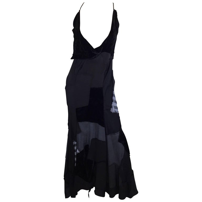 Junya Watanabe AD 2002 Patchwork Slip Dress