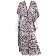 Oscar de la Renta Print Caftan Dress