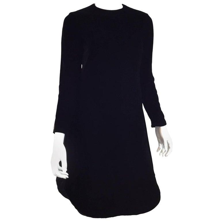 Pierre Cardin Velvet High Slit Tunic Dress Vintage