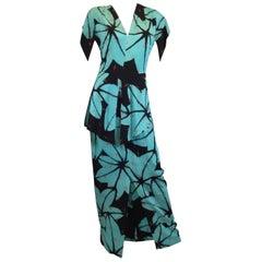 Gump's Print Hawaiian Vintage Dress