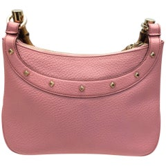 Gucci Pink Leather and Bamboo Purse
