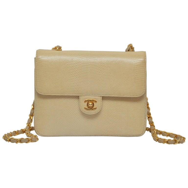 Rare Chanel Mini Lizzard Handbag 1990's