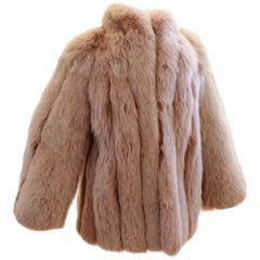 Fabulous Fox Fur Jacket Flah & Co Department Store Syracuse Size M Vintage 70s
