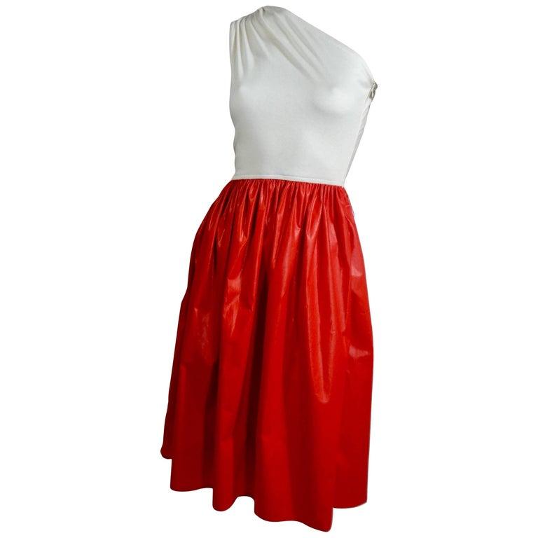 Bill Blass Cotton and Chintz Dress, 1980s