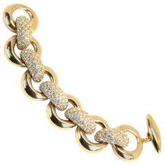 Yves Saint Laurent vintage chunky rhinestone link bracelet