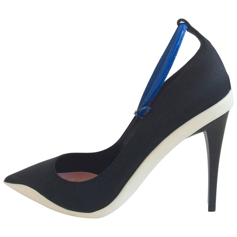 Dior Black Ankle Strap Pointy Pump - Resort 2014 - Sz 37