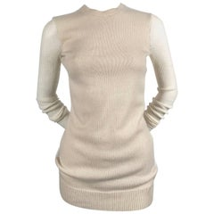 CELINE by PHOEBE PHILO cashmere and alpaca sheer sweater