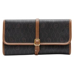 CHRISTIAN DIOR Vintage Jewelry Clutch in Brown Monogram Canvas