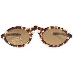 New Vintage Jean Lafont Tortoise Cat Eye Sunglasses 1980's Made in Italy