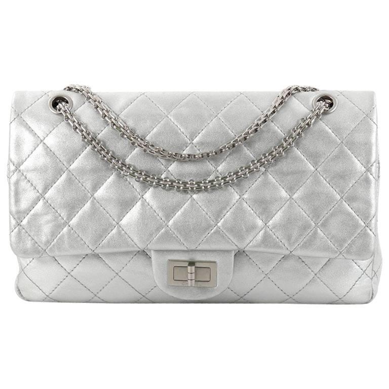 a0869ddb8e49cf Chanel Reissue 2.55 Handbag Quilted Metallic Calfskin 226 at 1stdibs