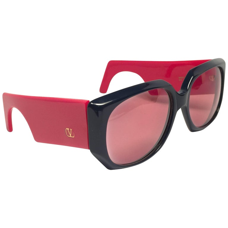 New Vintage Valentino 543 Red Mask Sunglasses 1980's Made ...