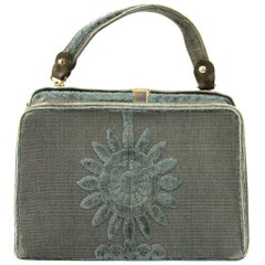 Roberta Di Camerino Green Canvas Vintage Bag, 1960s