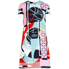 Versace Abstract Printed Dress