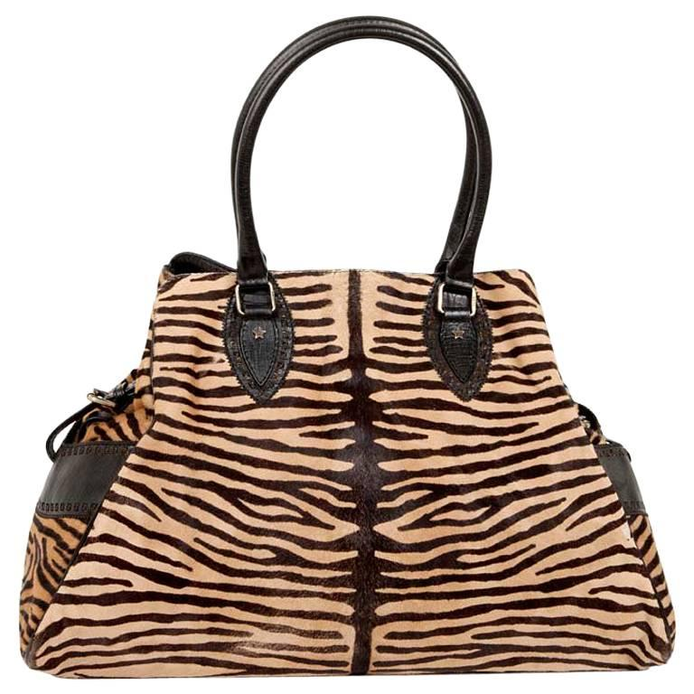 FENDI Bag in Goat Skin with a Zebra Pattern