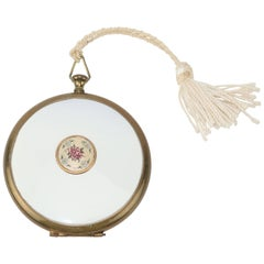 "Zell Victorian Style ""Pocket Watch"" Powder Compact, 1940s"
