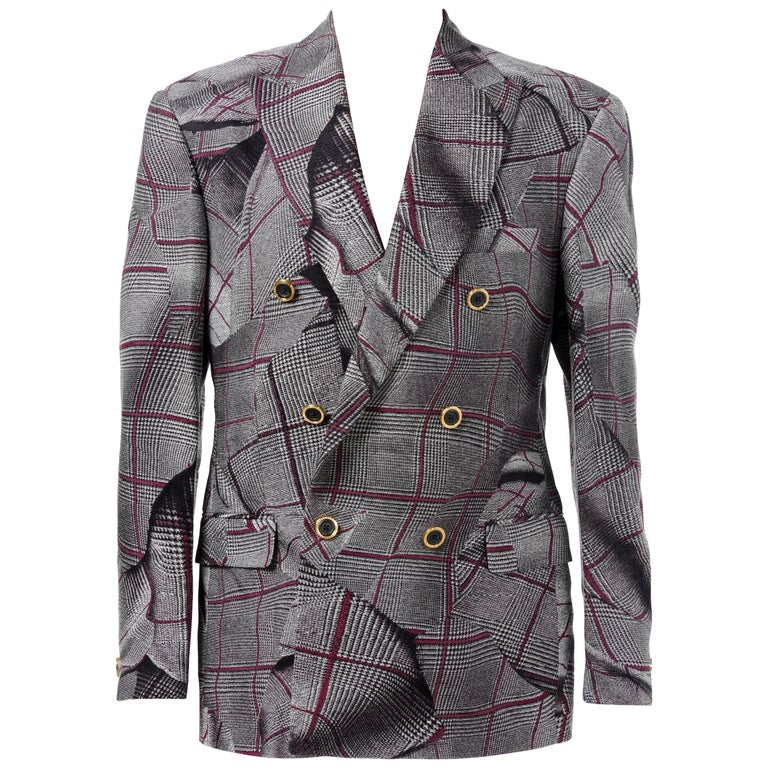 0b1cbbf527 BRAND NEW VERSACE DOUBLE BREASTED WINDOWPANE TAILOR MADE SUIT for MEN