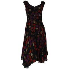 ETRO Silk Circle Print Dress (40 Itl)