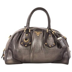Prada Convertible Bowling Bag Cervo Antik Leather Medium