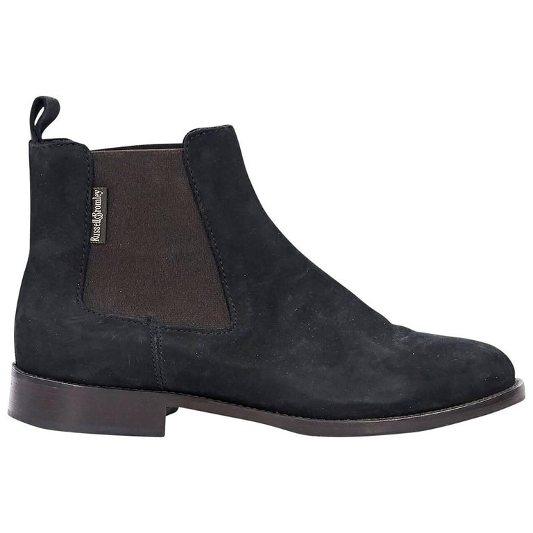 Black Russell & Bromley Suede Chelsea Boots