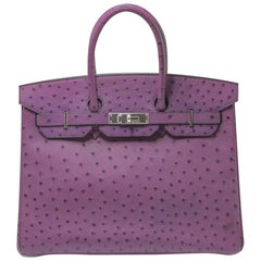 Hermès Violet Ostrich Birkin 35