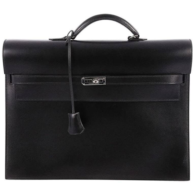 75a7e772baf6 Hermes Kelly Depeche Handbag Box Calf 38 at 1stdibs
