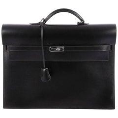 Hermes Kelly Depeche Handbag Box Calf 38