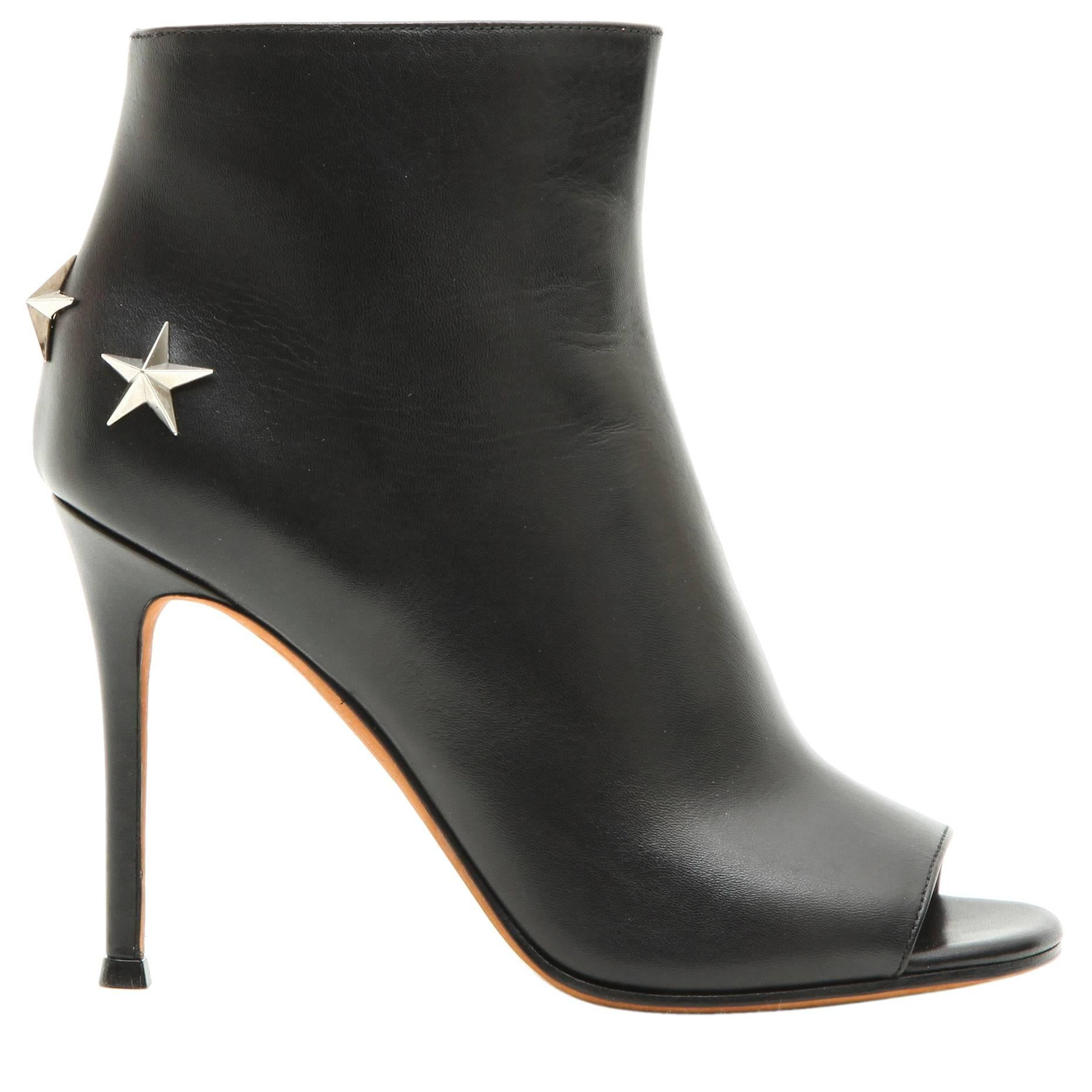 GIVENCHY Open Toe High Heels Boots in