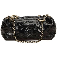 Black Chanel Patent Leather Shoulder Bag