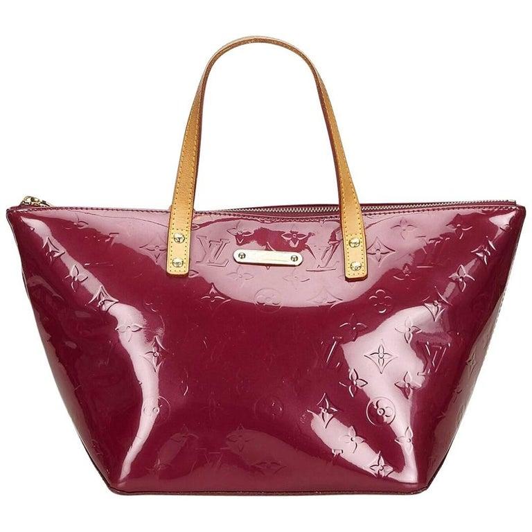Purple Louis Vuitton Vernis Bellevue PM Tote Bag
