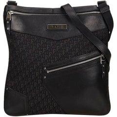Black Christian Dior Oblique Jacquard Crossbody Bag