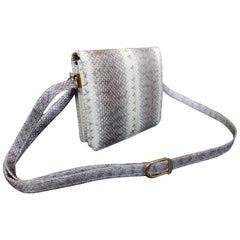 Vintage Snakeskin Crossbody Handbag