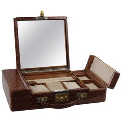 50's Crocodile Jewelry Box