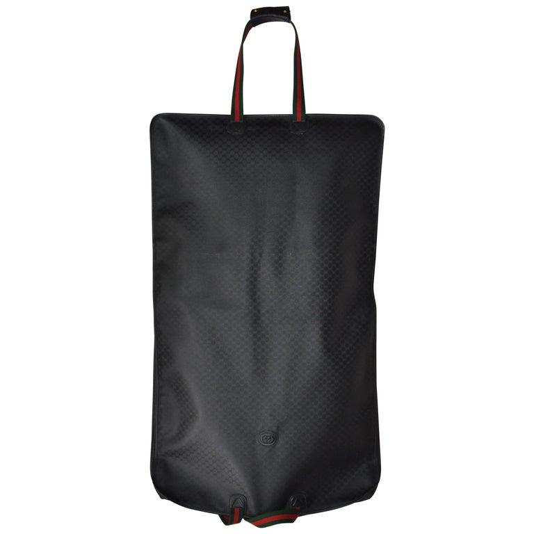 4fd5e55ae22 Gucci 1990s Black Monogram Canvas Garment Bag Carrier at 1stdibs